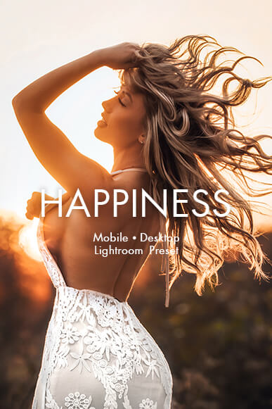 happiness lightroom mobile presets cover