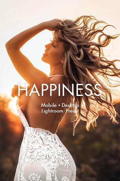 portada de presets móviles de felicidad lightroom