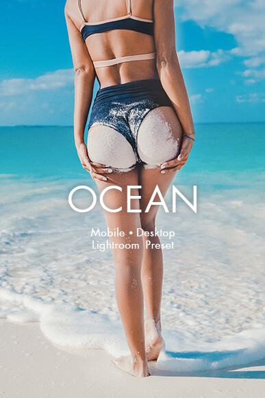 cubierta de preajustes móviles de Ocean Lightroom
