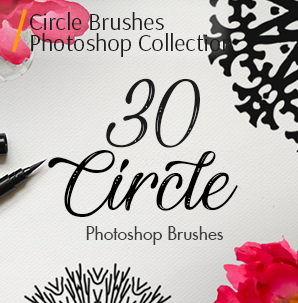 free watercolor brushes photoshop circle brushes photoshop cover 30 brushes