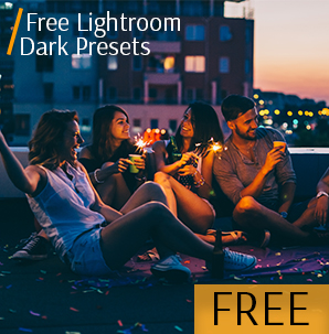 Dark lightroom presets set