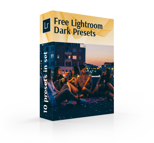 dark presets lightroom cover box