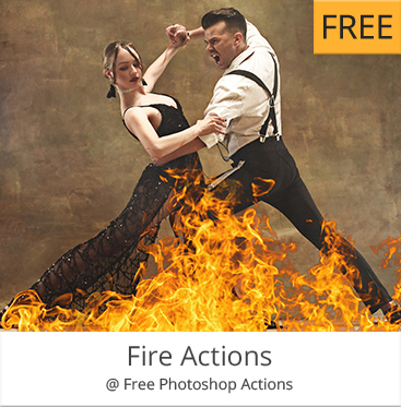 fire free photoshop actions for portraits free download