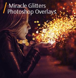 white bokeh miracle glitter photoshop overlays cover girl