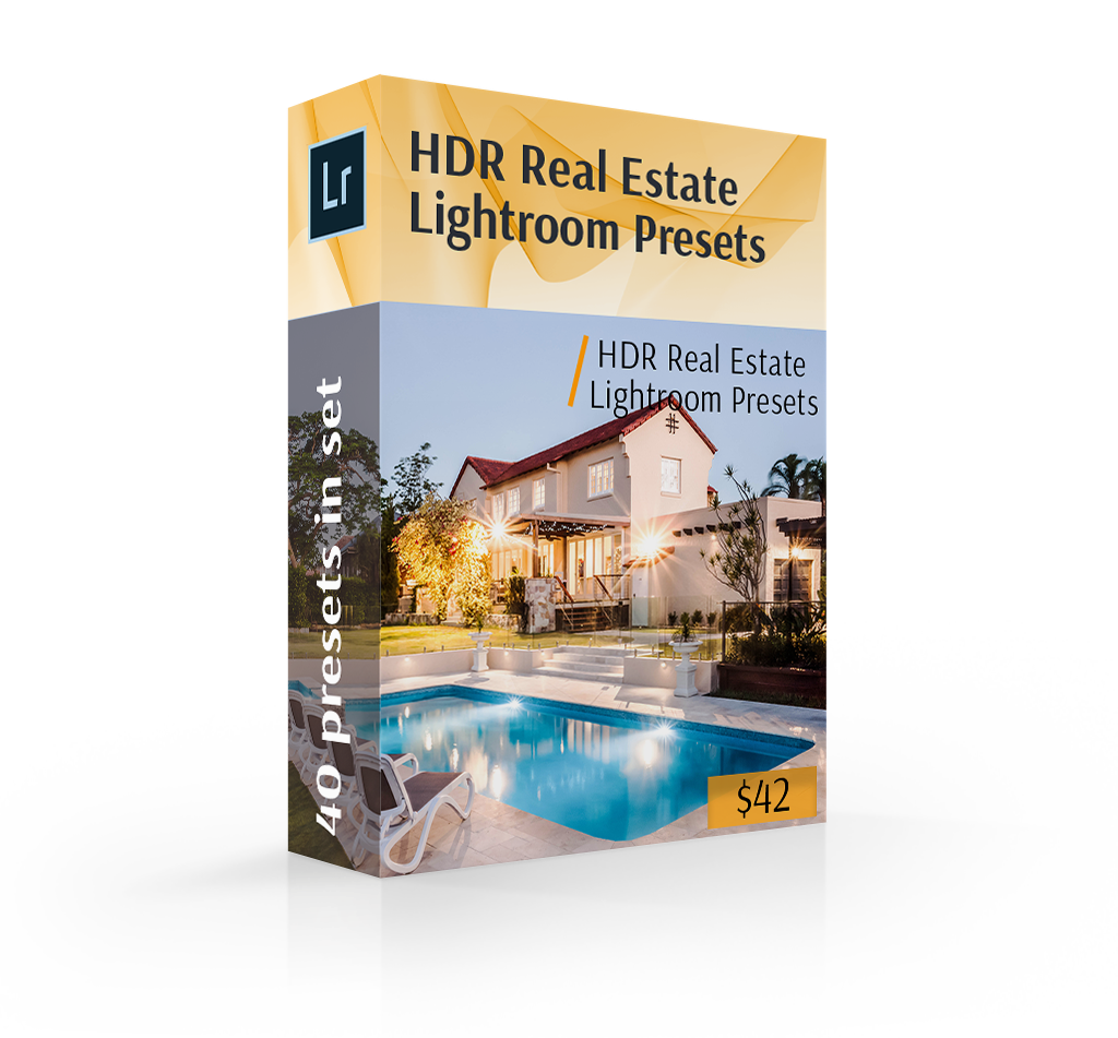 HDR real estate presets for Lightroom cover box