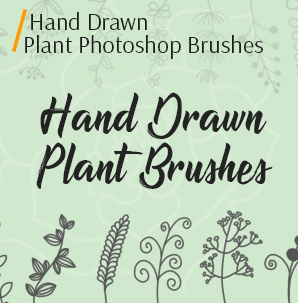 free watercolor brushes photoshop hand-drawn plant brushes cover