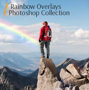watercolor overlay rainbow photoshop overlays cover man