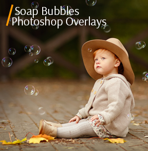 watercolor overlay soap bubbles photoshop overlays cover kid