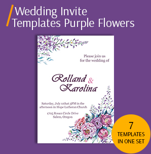 Wedding Invitation Card Template packs|Template for Wedding