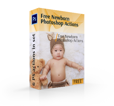free newborn actions photoshop cover box
