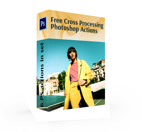 cross processing photoshop actions free cover box girl nature