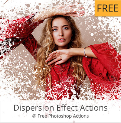 kostenlose photoshop aktionen dispersion effect