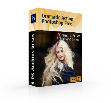 dramatic action photoshop free cover box girl blonde