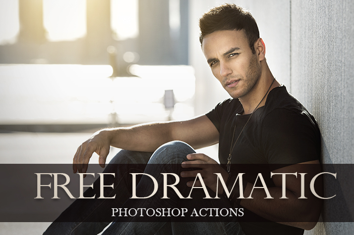 dramatic action photoshop free poster man