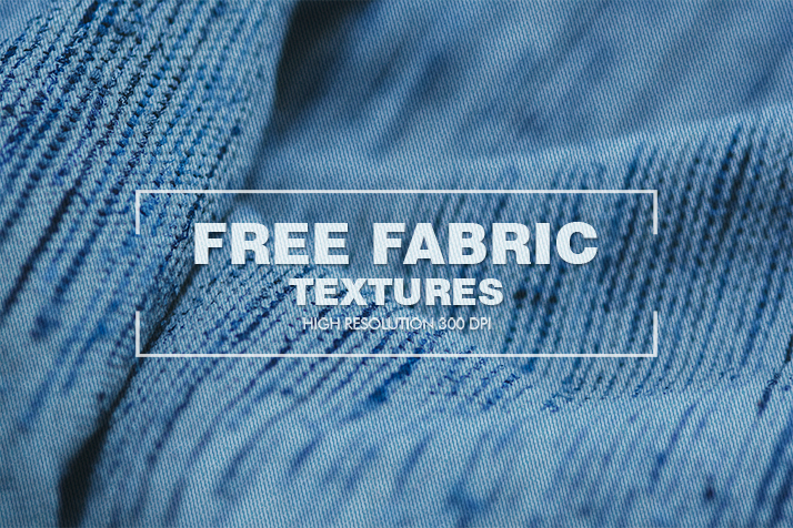 fabric texture poster blue fabric