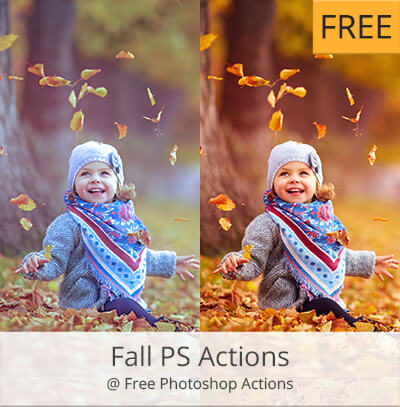 fall acciones photoshop gratis