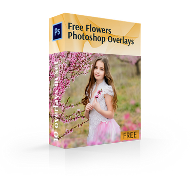 free flower overlays photoshop cover box