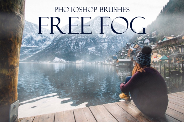 fog brushes photoshop free poster  girl nature