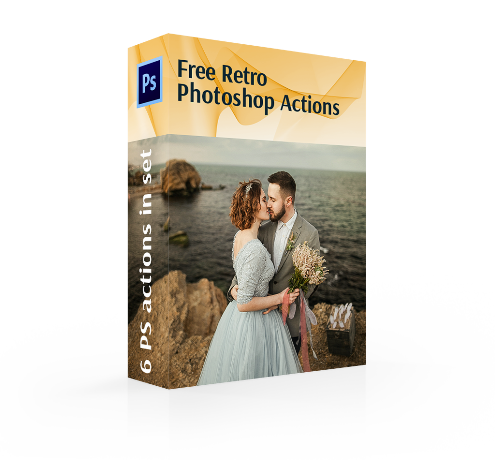 retro photoshop actions cover girl