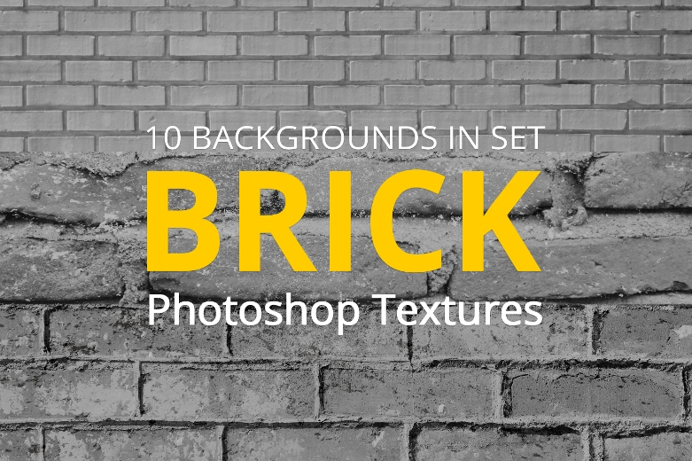 free brick texture photoshop poster girl