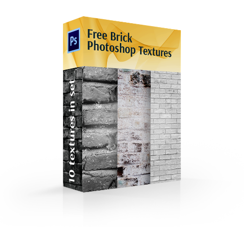 free brick texture photoshop cover box