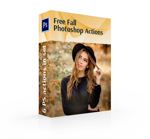 free fall photoshop actions cover box