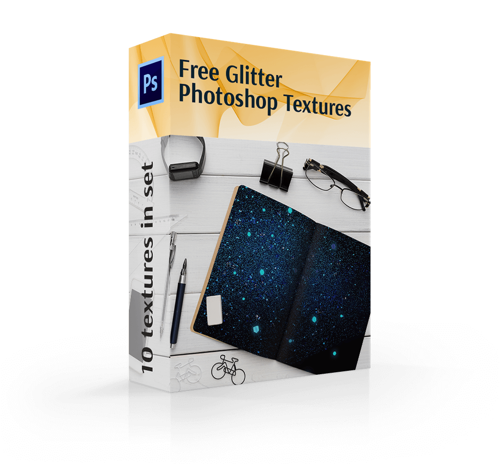 free glitter texture in photoshop cover box