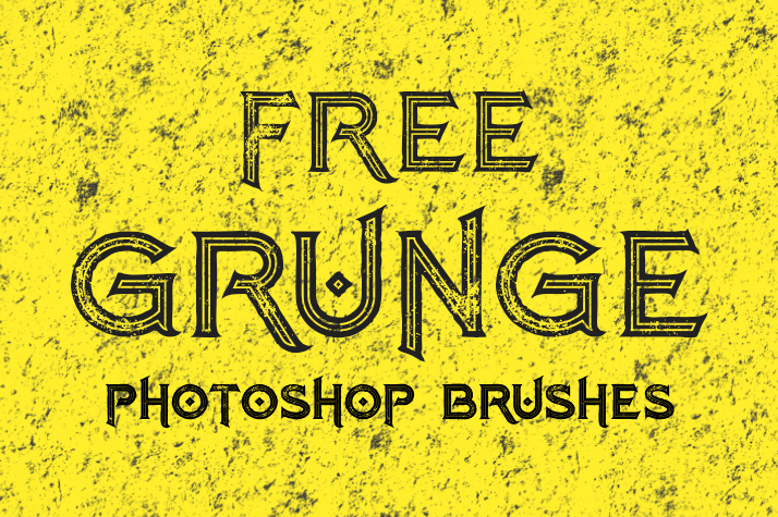 free grunge photoshop brushes poster
