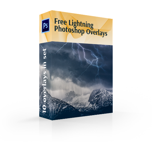 free lightning overlay photoshop cover box