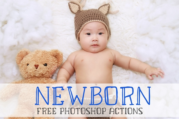 free newborn actions photoshop poster baby