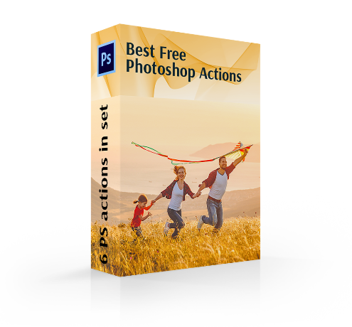best free photoshop actions cover box happy couple