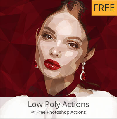 acciones photoshop gratis low poly