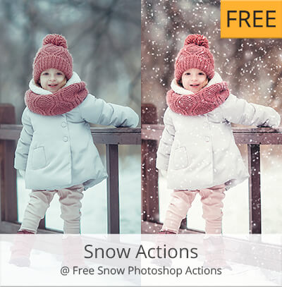 snow acciones photoshop gratis
