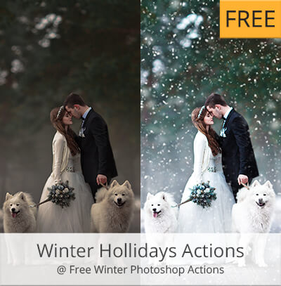 winter acciones photoshop gratis