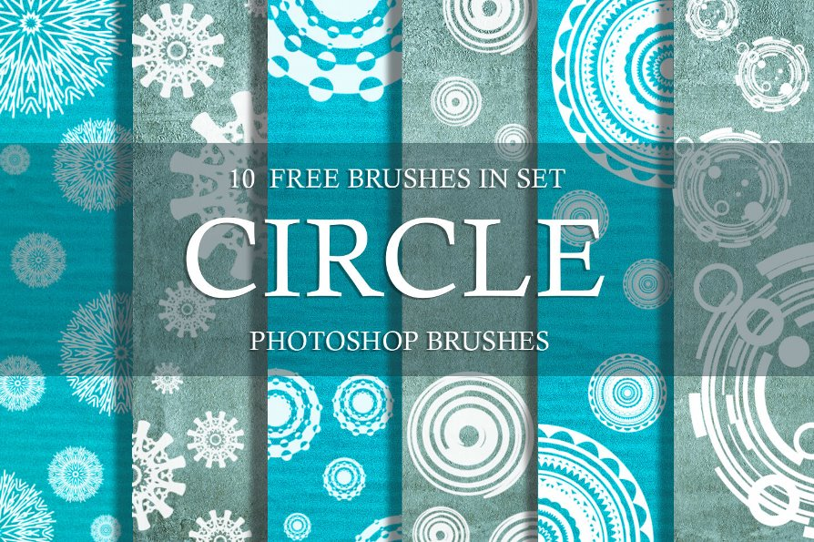 free photoshop circle brushes free poster
