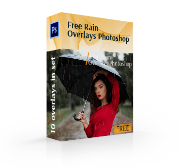 free rain overlay photoshop cover box