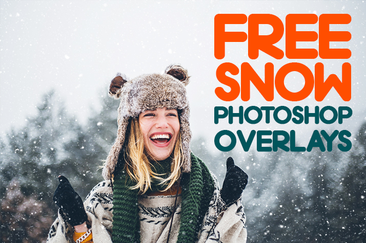 free snow overlay for photoshop poster girl