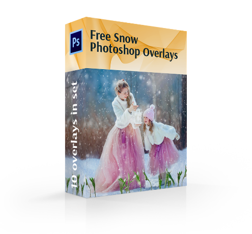 free snow overlay for photoshop cover box