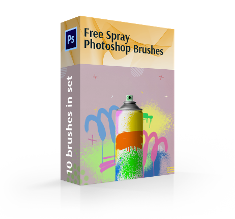 free spray paint brushes photoshop cover box