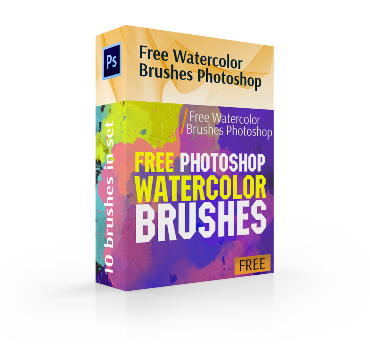 free watercolor brushes photoshop cover box