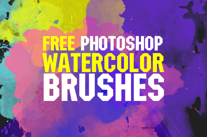 free watercolor brushes photoshop poster