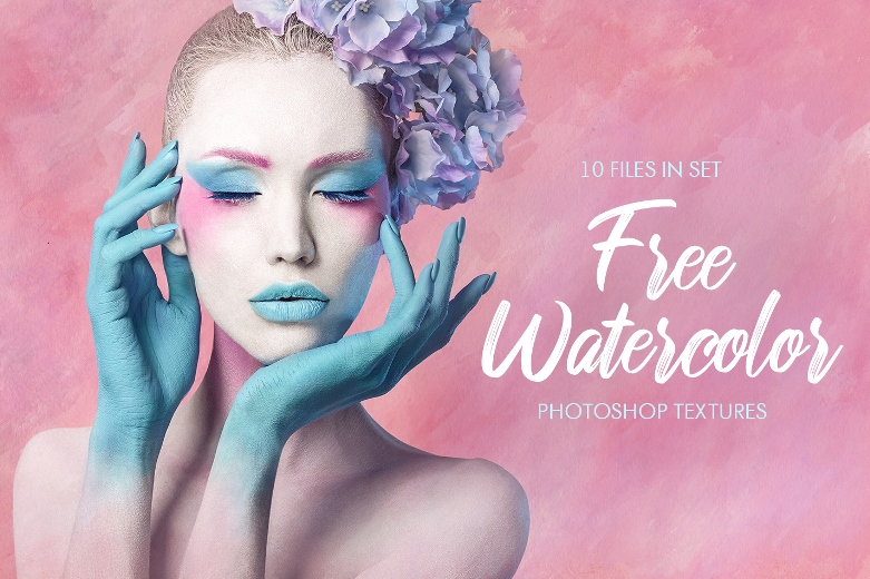 free watercolor texture photoshop poster cold colors