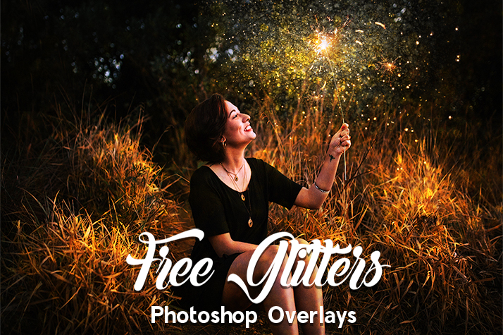 free glitter overlays for photoshop poster woman