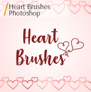 free photoshop Pencil brushes heart brushes photoshop cover