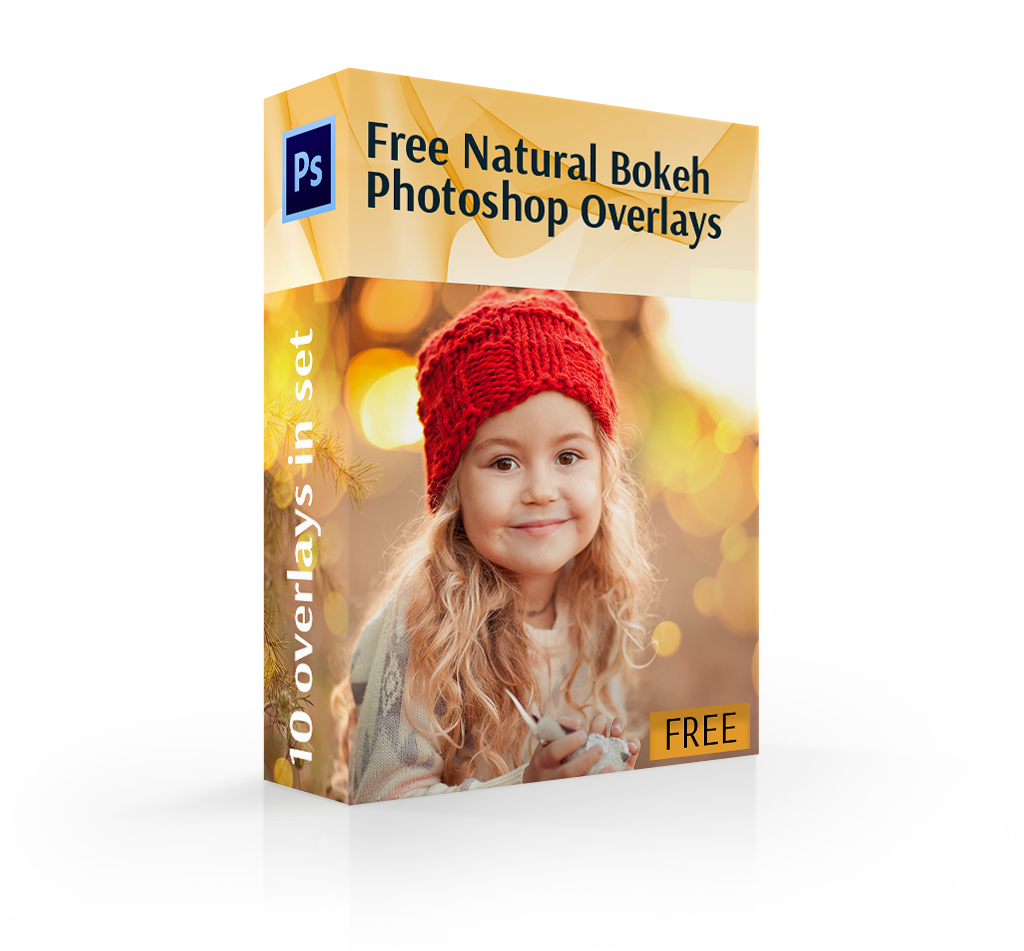 light bokeh overlay cover box girl