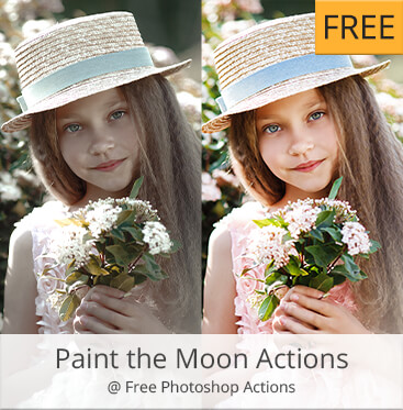 Paint the moon kostenlose photoshop aktionen