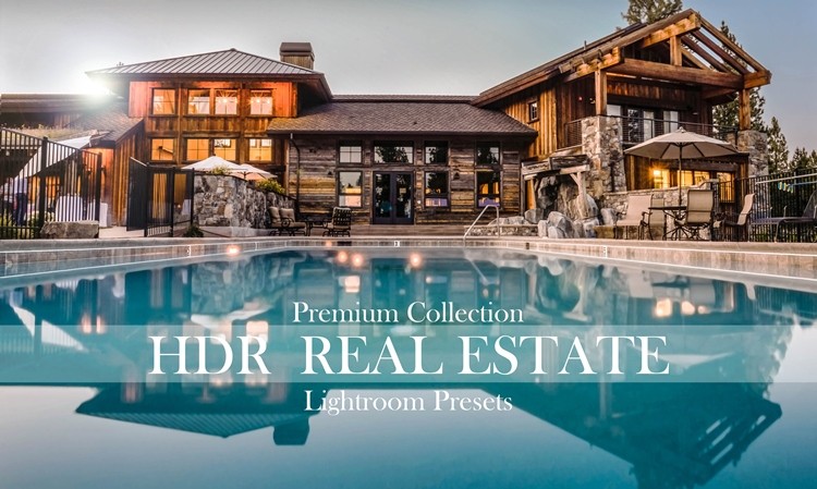 real estate lightroom presets HDR real estate premium collection banner
