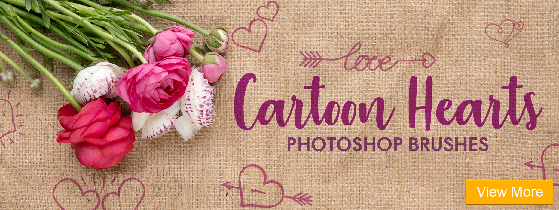free watercolor brushes photoshop cartoon hearts photoshop brushes banner