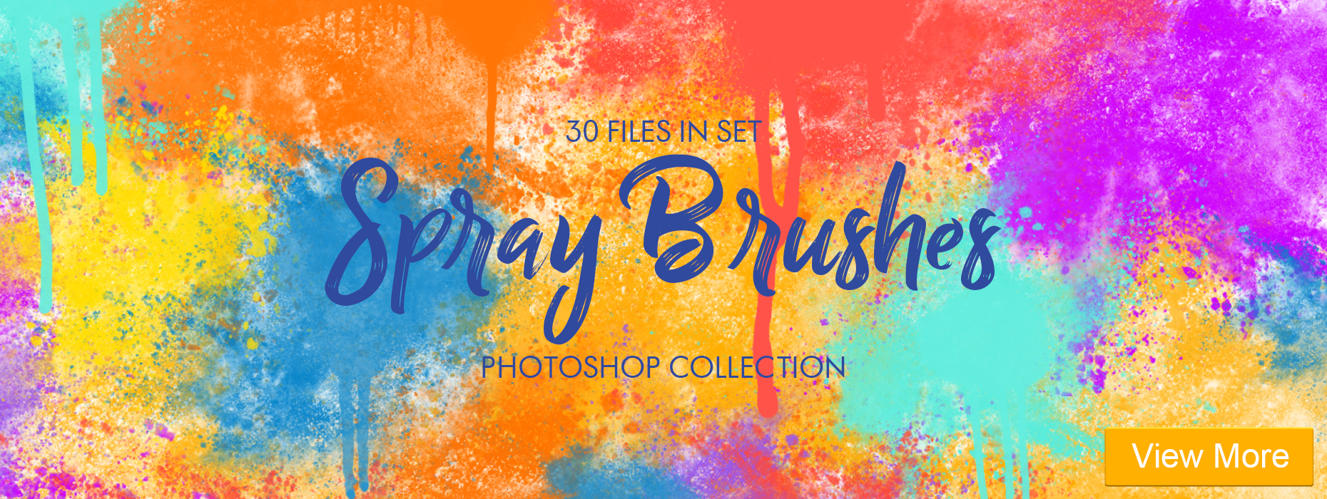 free watercolor brushes photoshop  30 files in set spray brushes photoshop collection banner