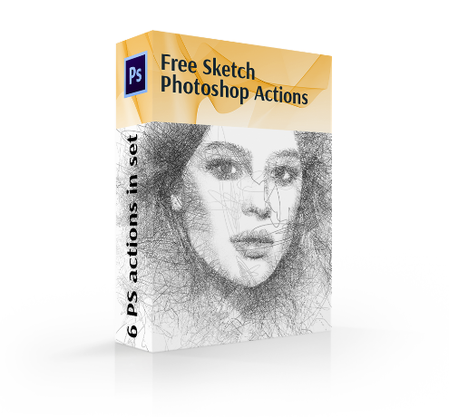 free hdr photoshop action cover box desert